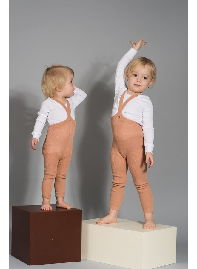 Silly Silas | footed cotton tights | light brown