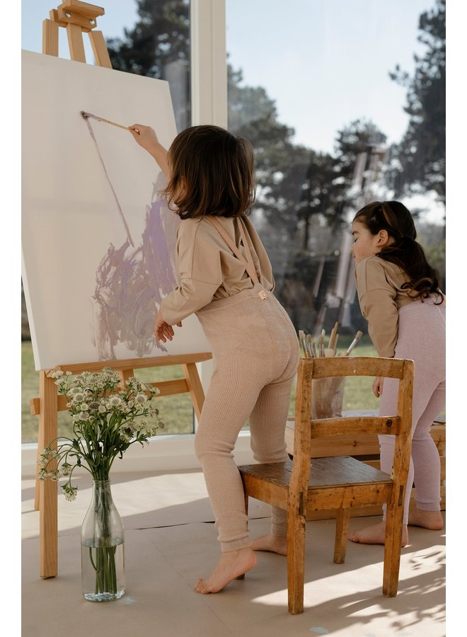 Silly Silas | footless cottons tights | silverly brown
