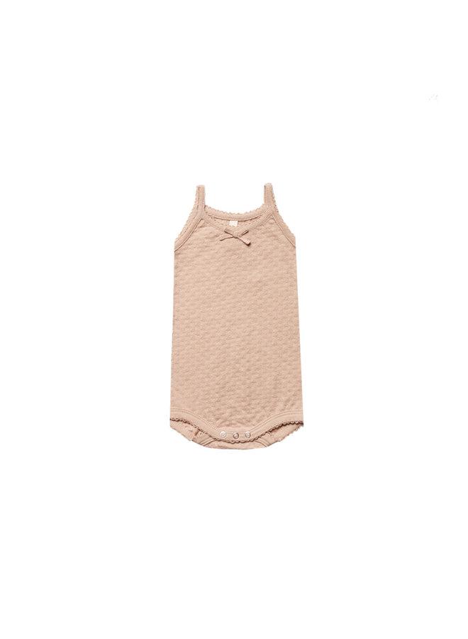 Quincy Mae | pointelle tank onesie | petal