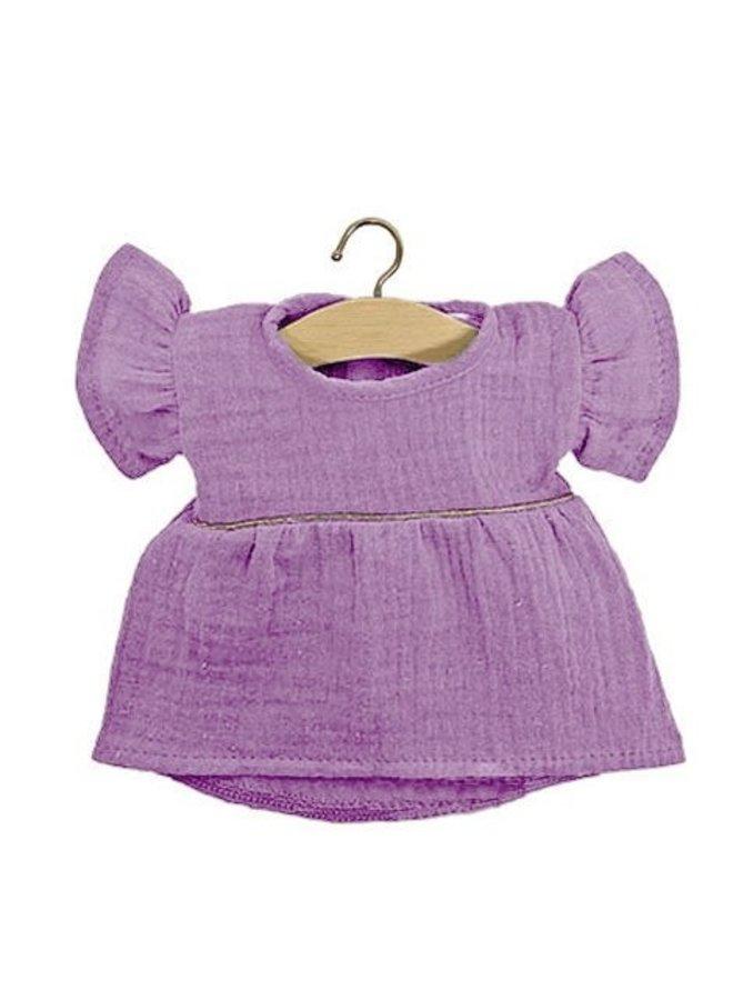 Minikane   poppenkleertjes   lila jurk