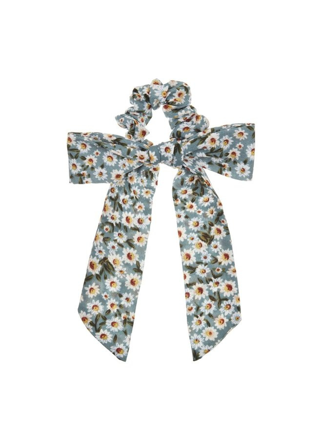 Mimi & Lula   floral scrunchie with tails   green
