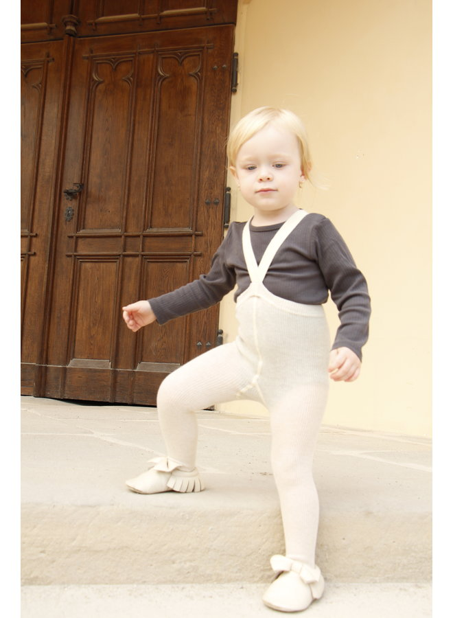 Silly Silas | footed cotton tights | cream blend