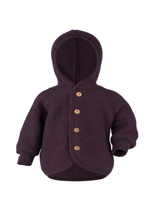 Engel   hooded jacket   purple melange