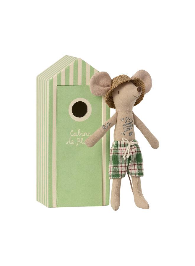 Maileg | beach mice | dad in cabin de plage