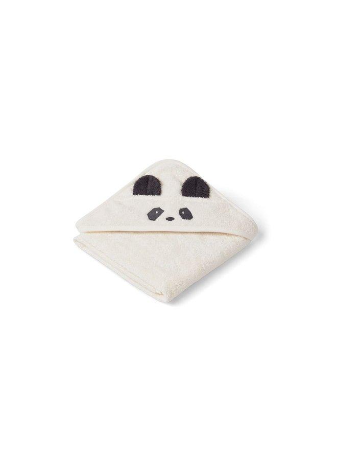 Liewood   albert hooded towel   panda creme de la creme