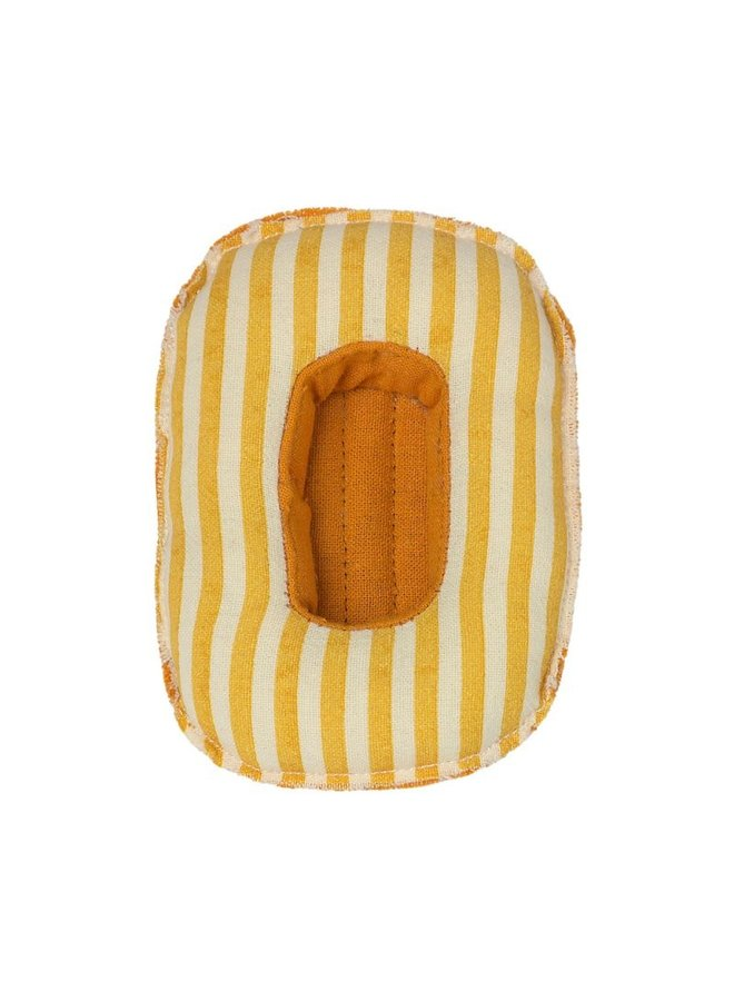 Maileg | rubber boat | yellow stripe