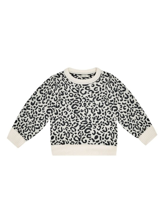 The New Society | rose jumper leopard