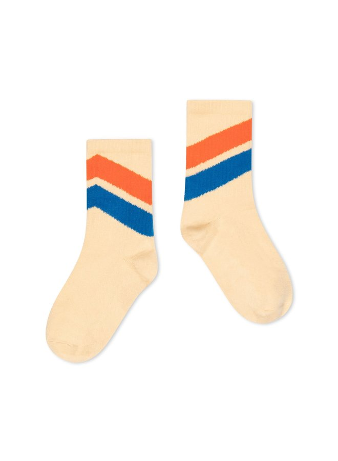Repose AMS   sporty socks   almond diagonal