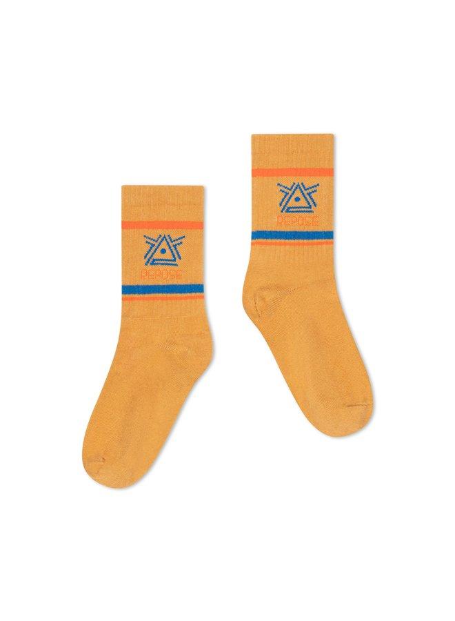 Repose AMS  sporty socks   caramel logo