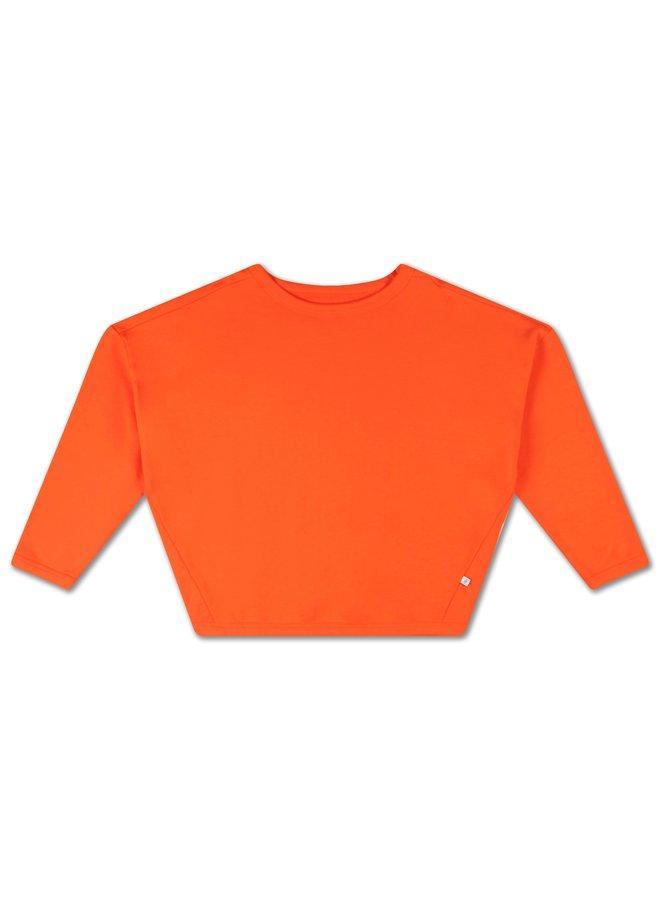 Repose AMS   boxy sweater   spicy orange red