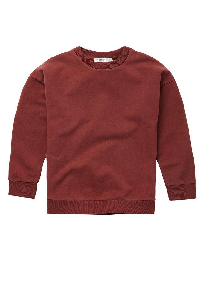 Mingo | sweater | brick red