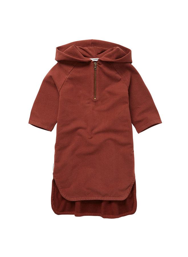 Mingo | sweat dress | brick red