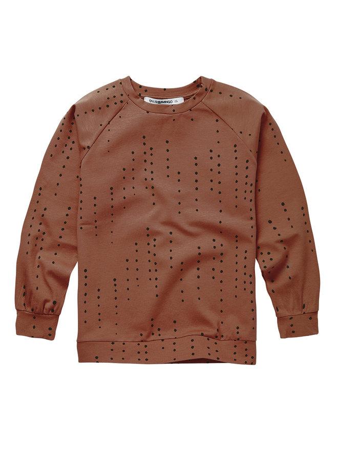 Mingo | long sleeve | dewdrops on burnished leather