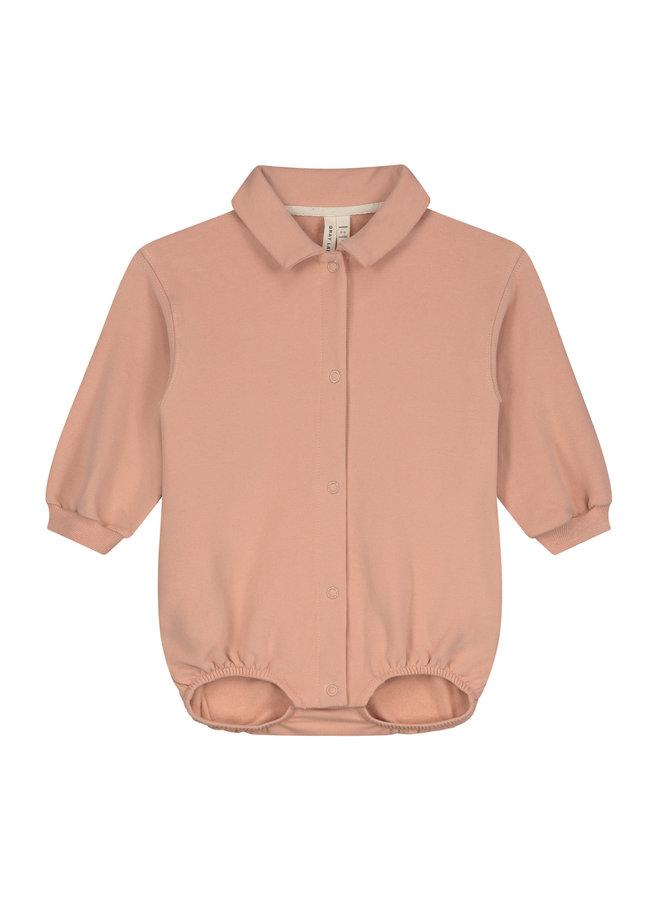 Gray Label   baby bodysuit   rustic clay
