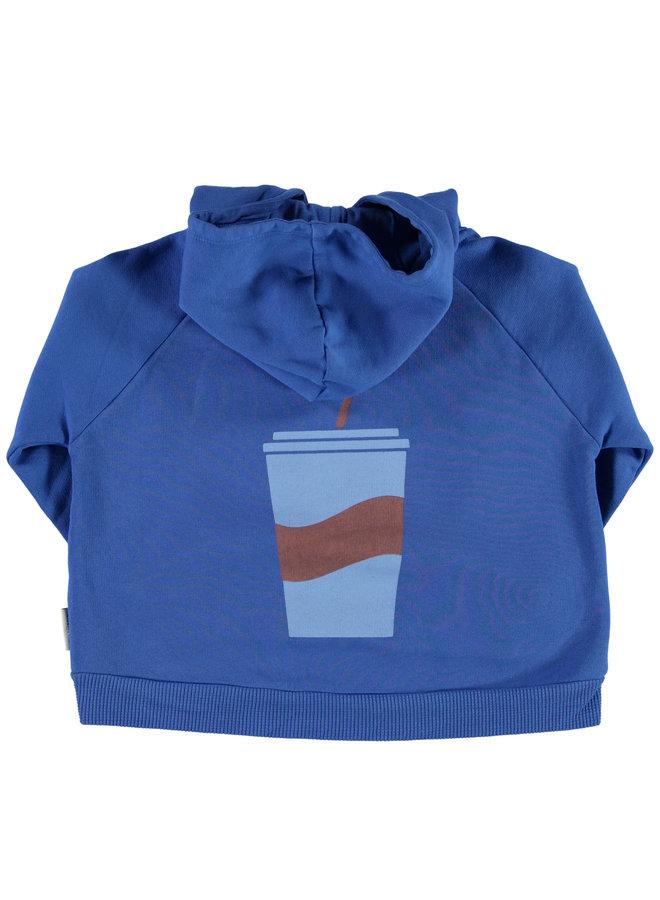 Piupiuchick   hoodie   indigo w/ print