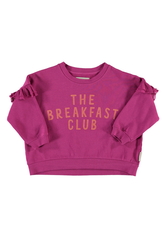 Piupiuchick | sweatshirt w/ frills | fuchsia w/ print