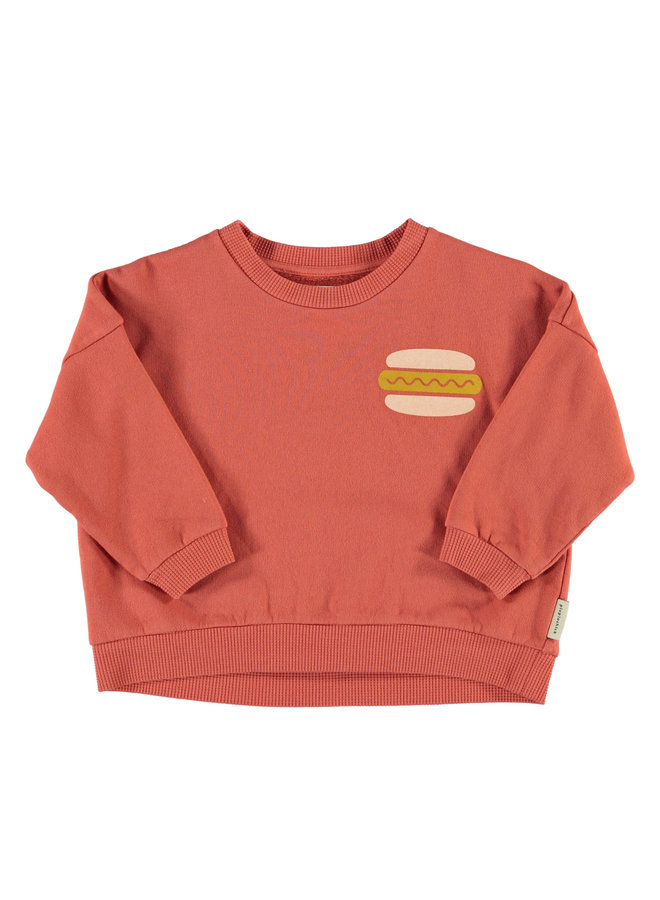 Piupiuchick | unisex sweatshirt | brick w/ print