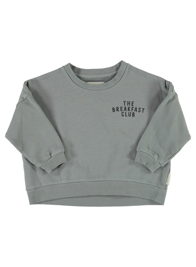 Piupiuchick   unisex sweatshirt   grey w/ print