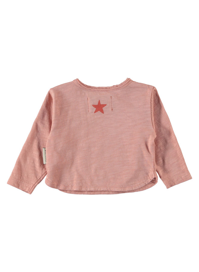 Piupiuchick | longsleeve t'shirt | light pink w/print