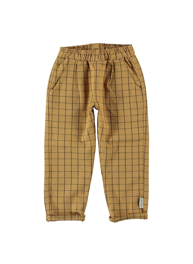 Piupiuchick   unisex trousers   camel checkered