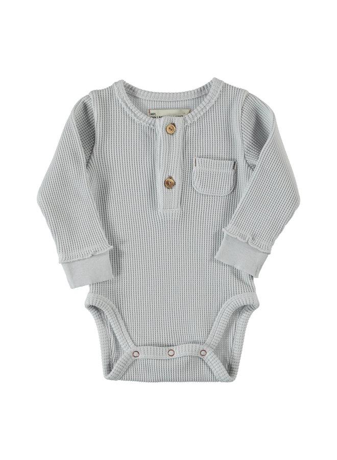 Piupiuchick | baby longsleeve body | light grey waflle