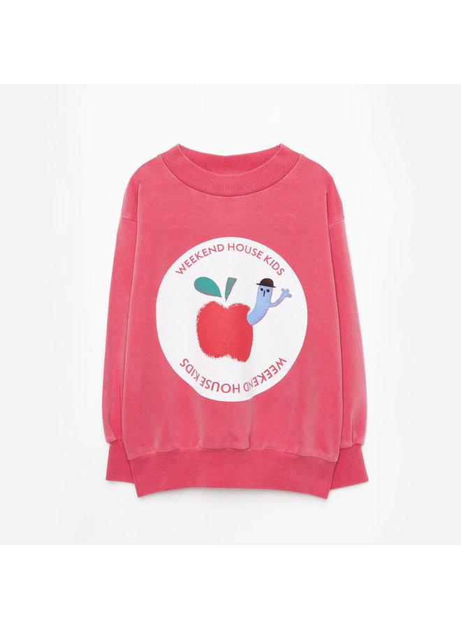 Weekend house kids | red apple sweatshirt
