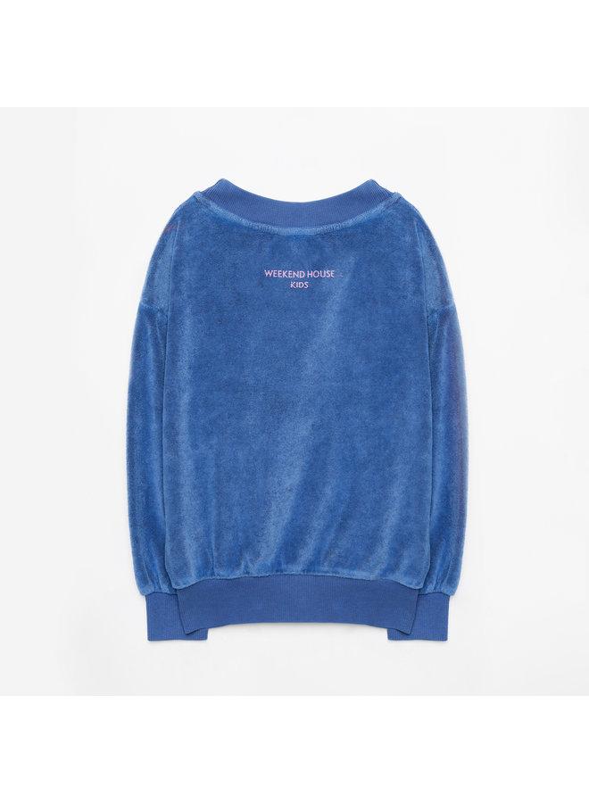 Weekend house kids | blue horse soft sweatshirt