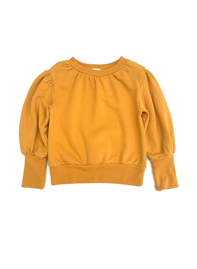 Longlivethequeen | puffed sweater | mineral yellow