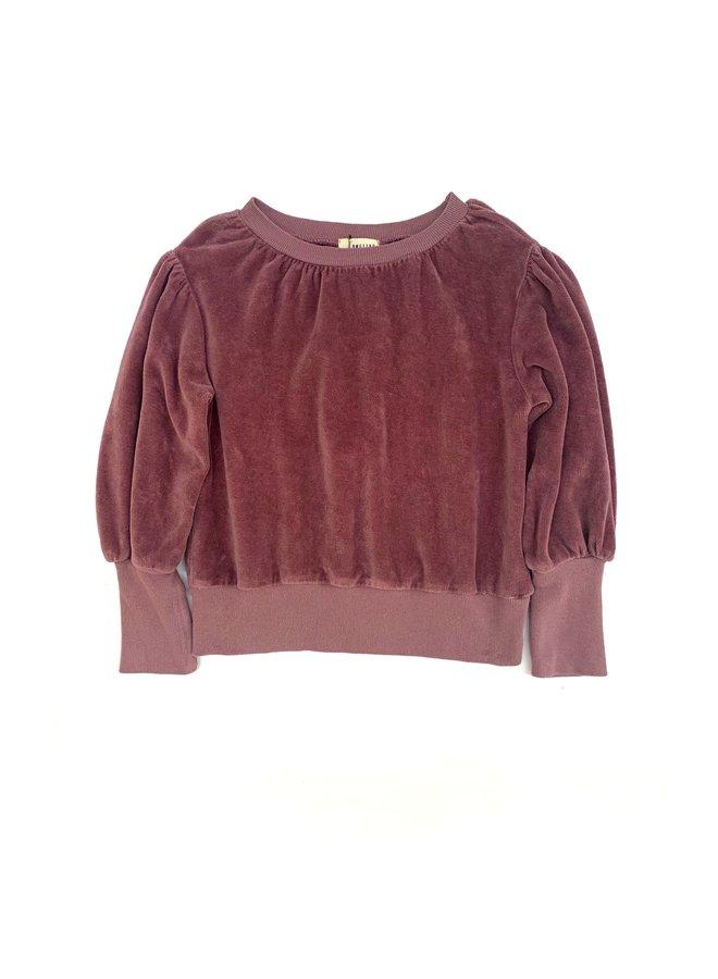 Longlivethequeen   puffed sweater   grape