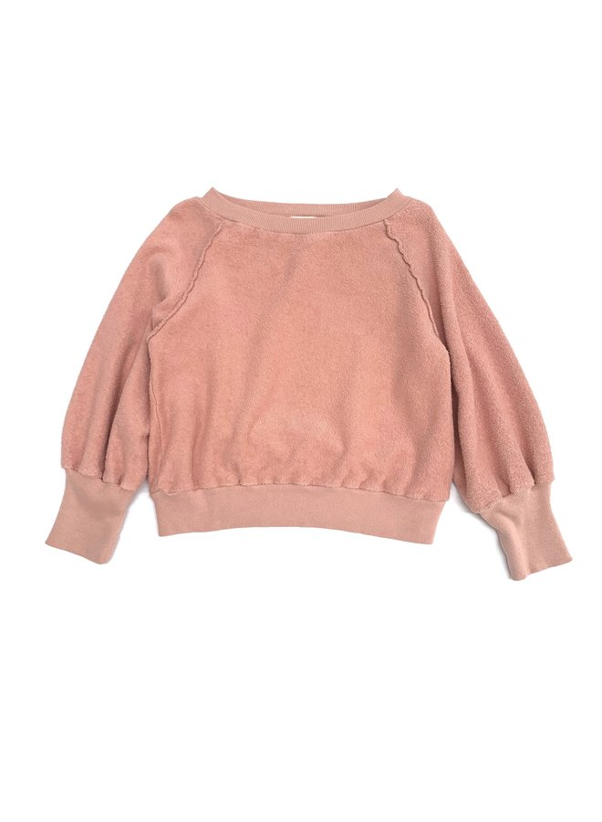 Longlivethequeen | terry sweater | old rose