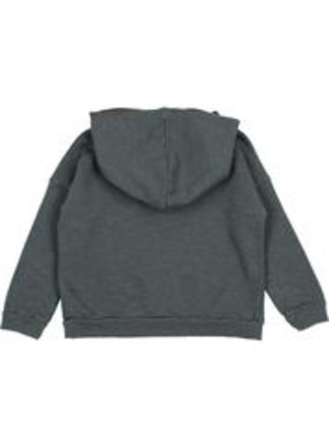 Buho | plain hoodie sweatshirt | antracite