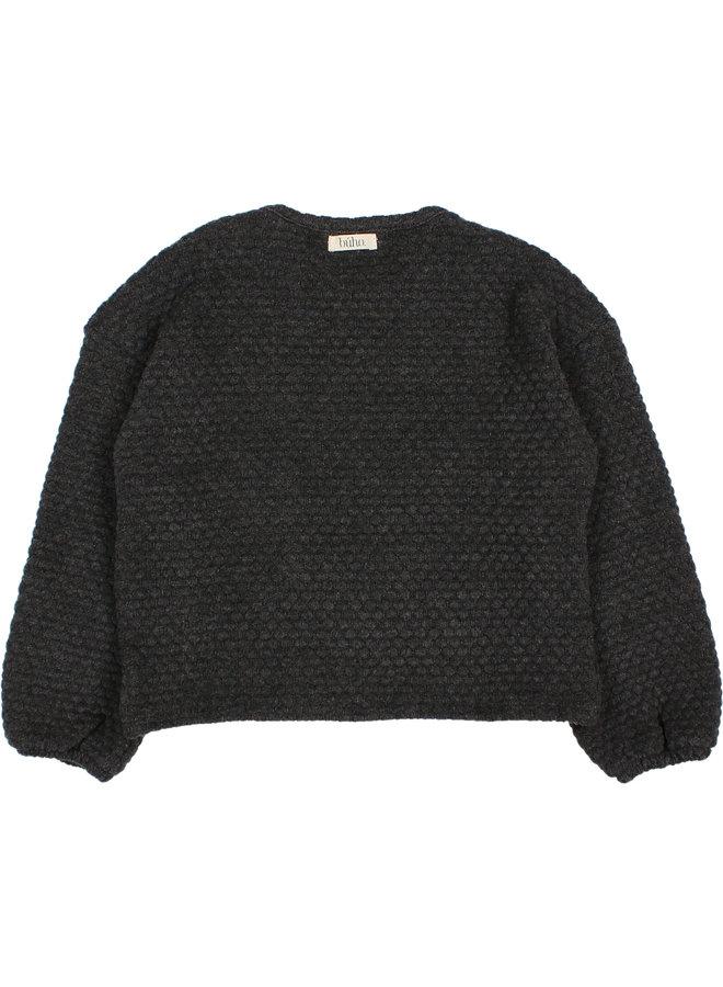 Buho | kids soft jacquard sweatshirt | antracite