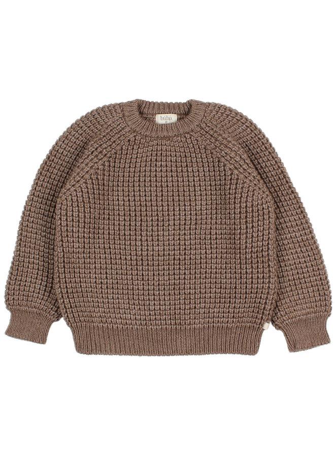 Buho | soft knit jumper | wood