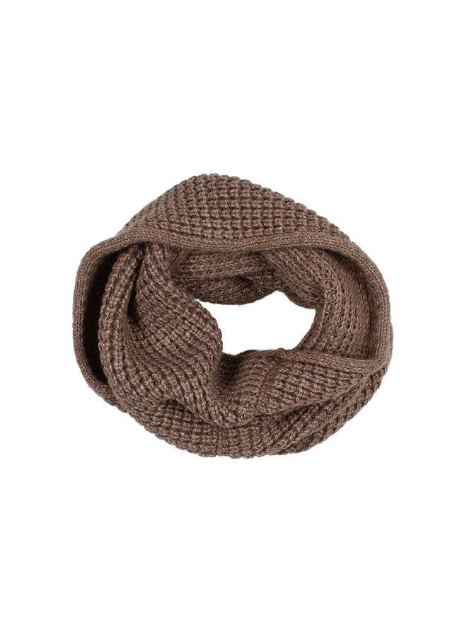 Buho | soft knit buff | wood