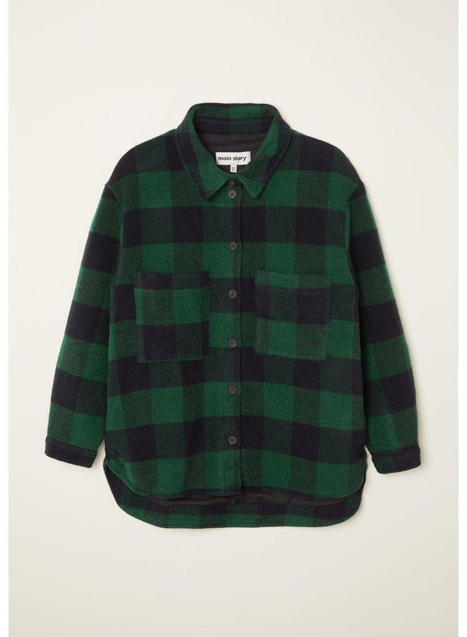 Main story | pocketed overshirt | green check