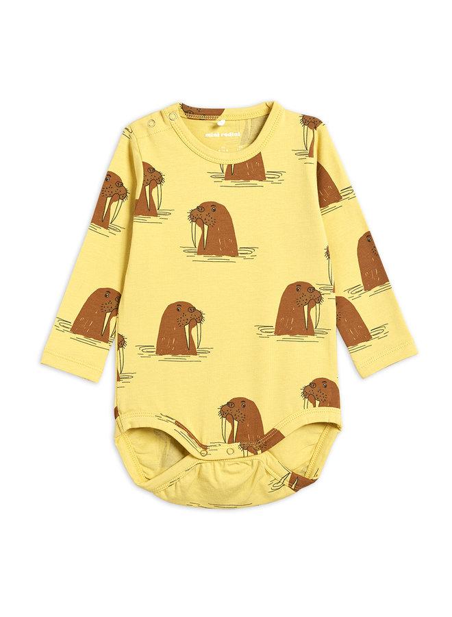 Mini rodini   walrus aop is body   yellow