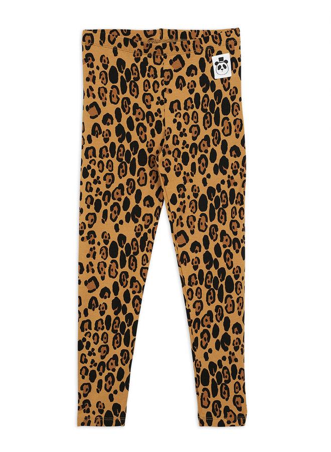 Mini rodini | basic leopard leggings | beige