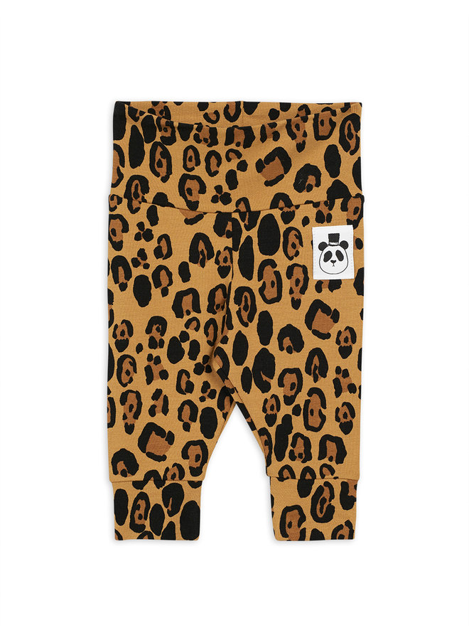 Mini rodini | basic leopard nb leggings | beige