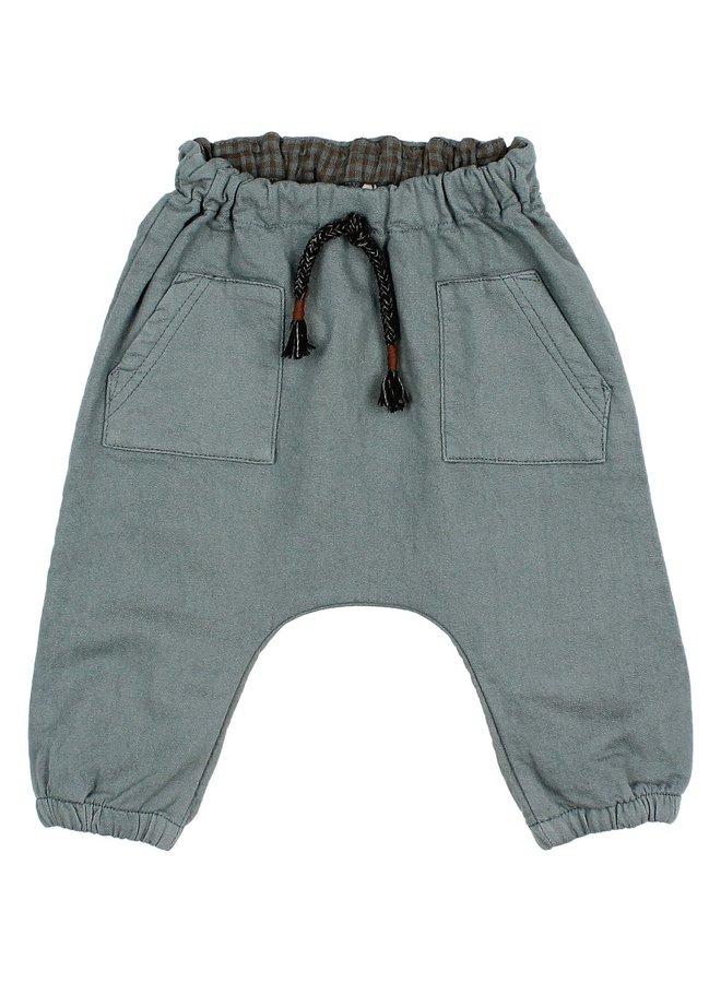 Buho | baby front pockets pants | north sea