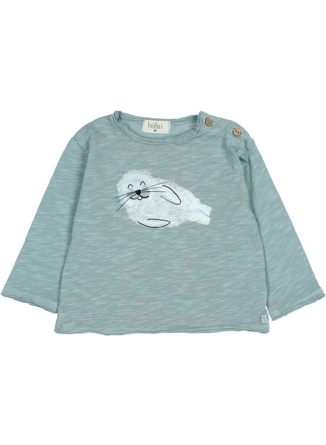 Buho   seal t-shirt   storm grey