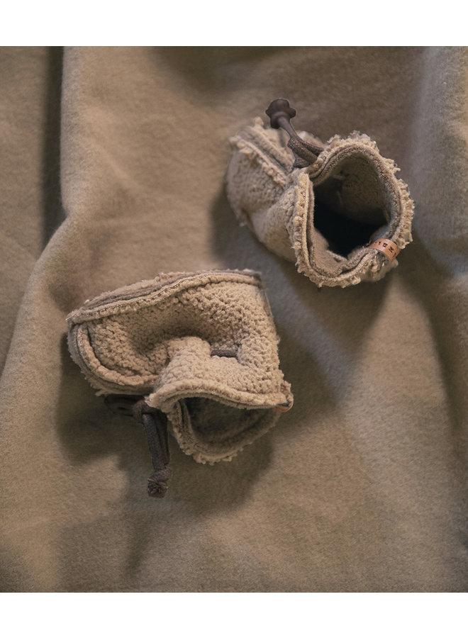 Nixnut | teddy booties | camel