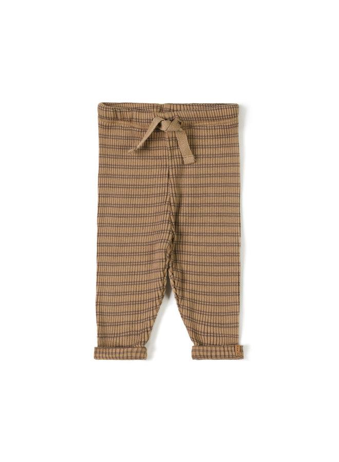 Nixnut | rib legging | stripe choco