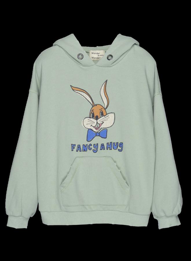 Wander & Wonder | bunny hoodie | mint
