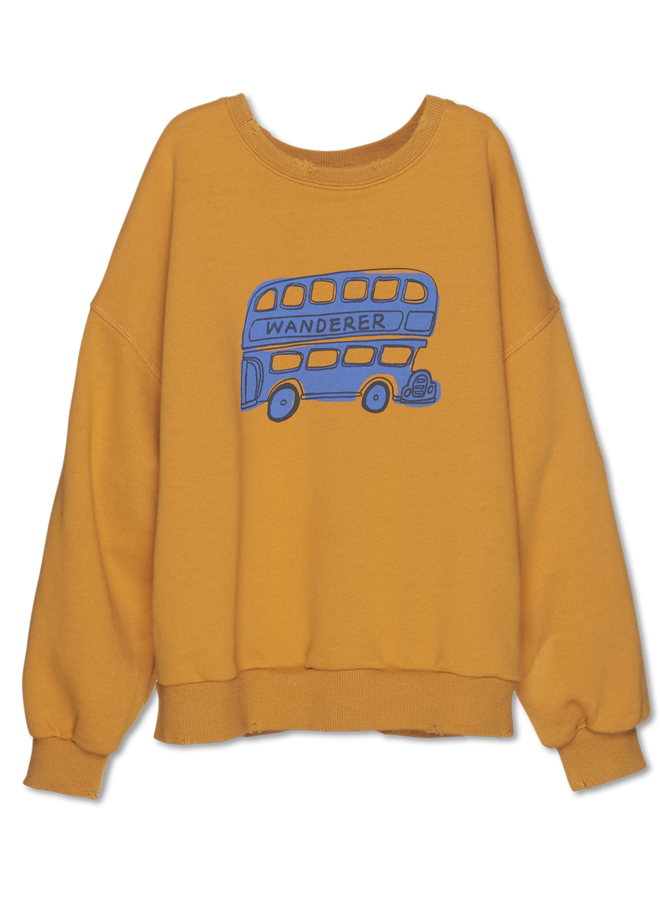 Wander & Wonder | bus sweatshirt | corn