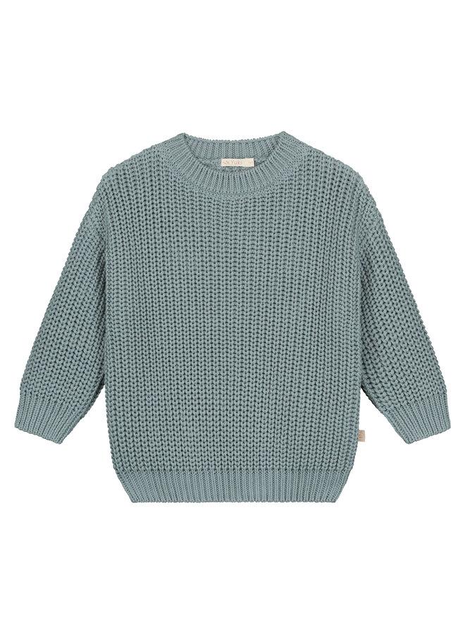 Yuki Kidswear | chunky knitted sweater | ocean