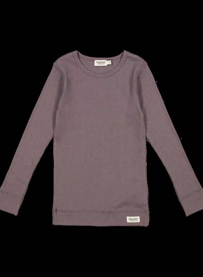 MarMar   plain tee ls   t-shirt   plum