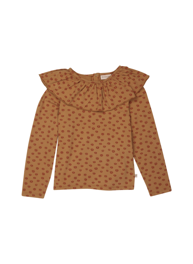 Blossom Kids  | long sleeve shirt with volant collar | winter flower
