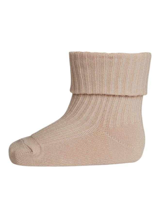 MP Denmark | cotton rib baby socks | rose dust