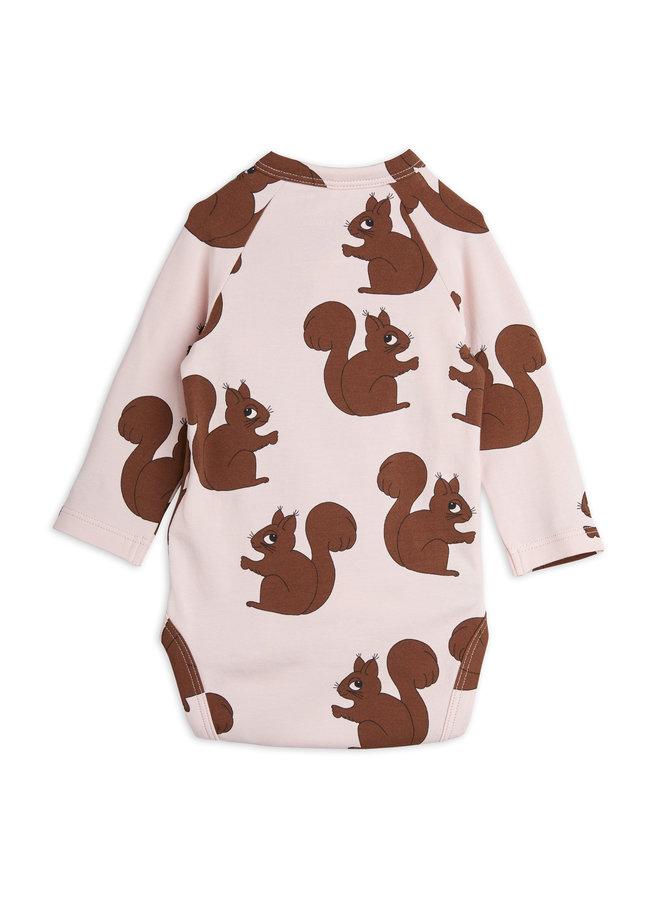 Mini rodini | squirrels aop wrap body | pink