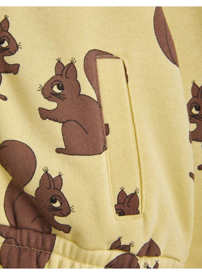 Mini rodini   squirrel aop sweatjacket   yellow